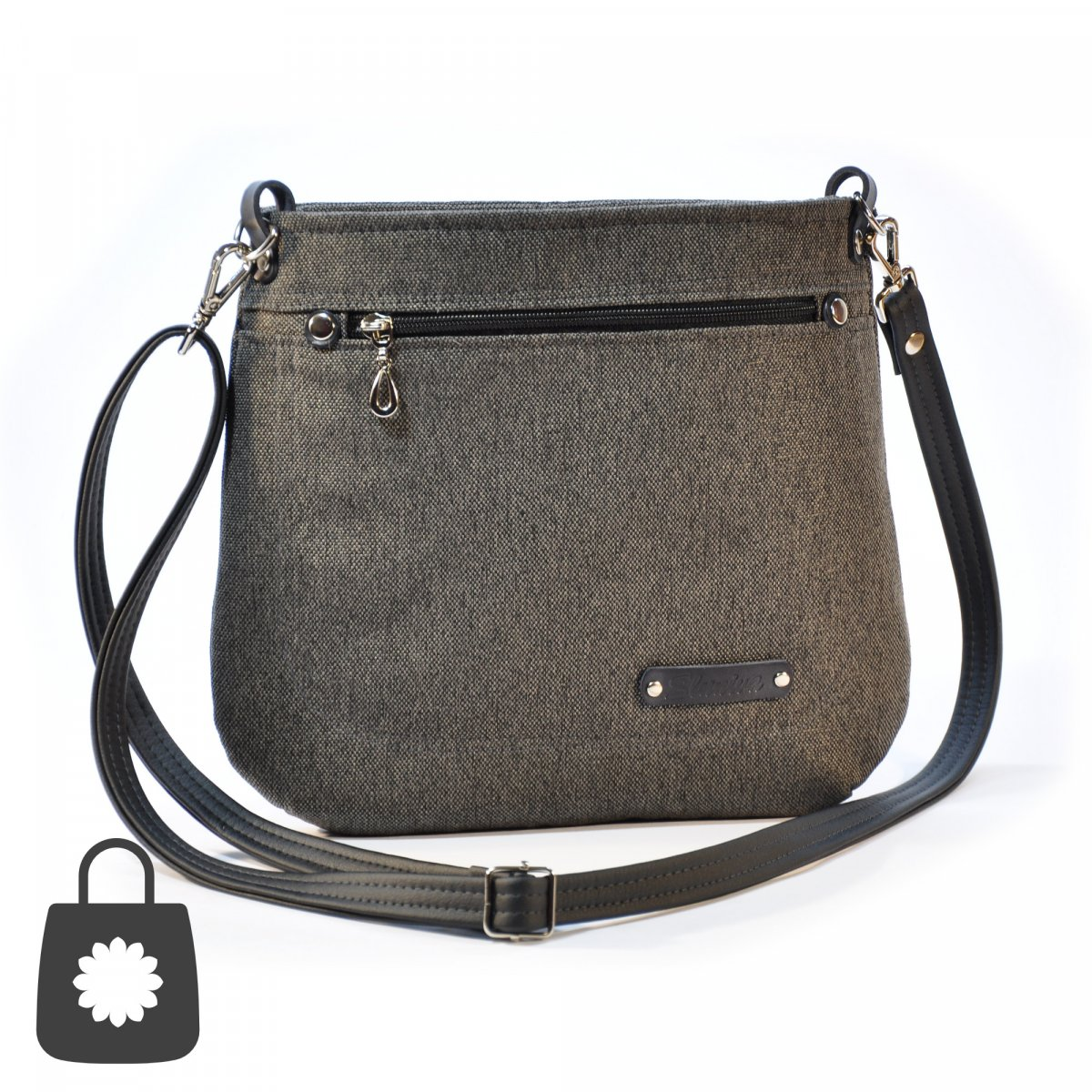 Kabelka, crossbody Vendy antracit