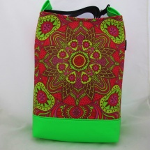 MANDALA BAG * GREEN NEON  RED no.07 * PARROT®