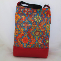 MANDALA BAG * BLUE - RED no.08  * PARROT®