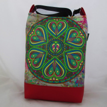 MANDALA BAG * GREEN - RED HEART no.010  * PARROT®