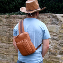 Leather Backpack caramel