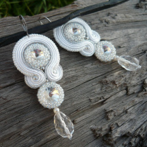 Soutache náušnice Ice Queen