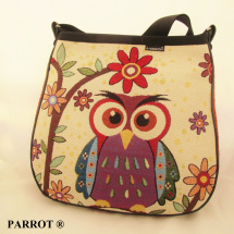 Hand made bag * Kambodža * happy owl * PARROT®