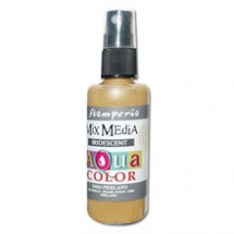 Sprej Aquacolor Mixed Media 60ml - perlově zlatá (KAQ021)